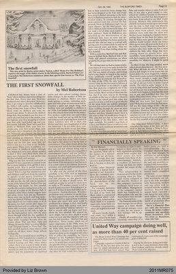 The First Snowfall by Mel Robertson, from the Burford Times