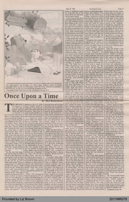 Once Upon a Time by Mel Robertson, from the Burford Times