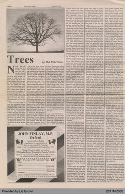 Trees by Mel Robertson, from the Burford Times