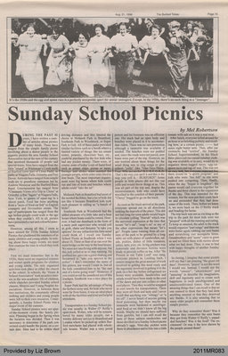 Sunday School Picnics by Mel Robertson, from the Burford Times