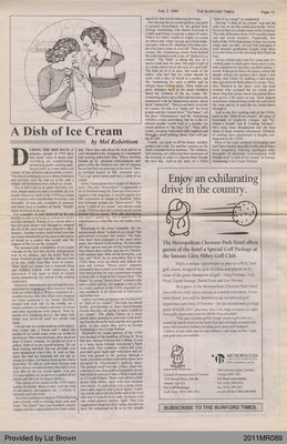 A Dish of Ice Cream by Mel Robertson, from the Burford Times
