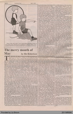 The Merry Month of May by Mel Robertson, from the Burford Times