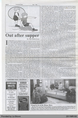 Out After Supper by Mel Robertson, from The Burford Times