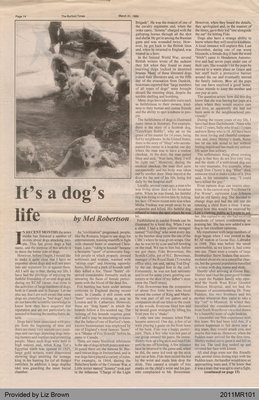 It's a Dog's Life by Mel Robertson, from The Burford Times