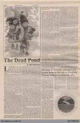 The Dead Pond by Mel Robertson, from The Burford Times