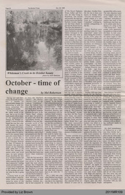 October - Time of Change by Mel Robertson, from The Burford Times