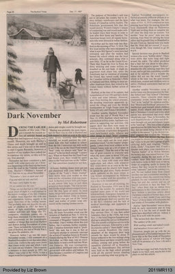 Dark November by Mel Robertson, from The Burford Times