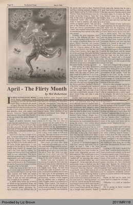 April - The Flirty Month by Mel Robertson, from The Burford Times