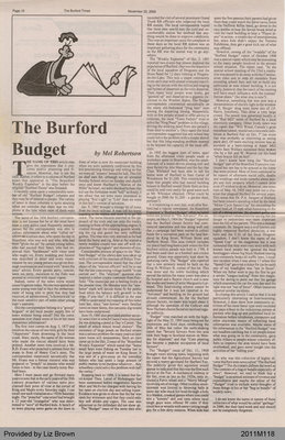 The Burford Budget by Mel Robertson, from The Burford Times
