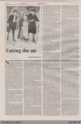 Taking the Air by Mel Robertson, from The Burford Times