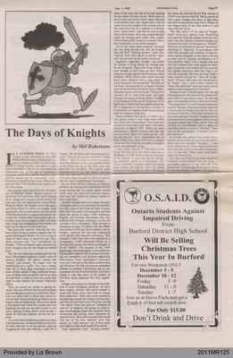 The Days of Knights by Mel Robertson, from The Burford Times