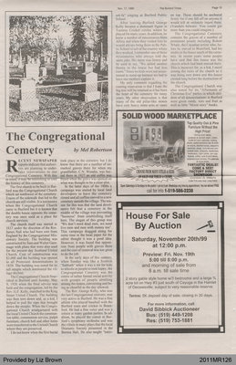 The Congregational Cemetery by Mel Robertson, from The Burford Times