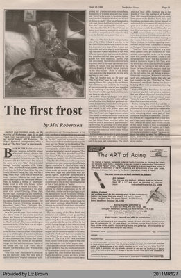 The First Frost by Mel Robertson, from The Burford Times