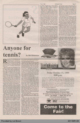 Anyone for Tennis? by Mel Robertson, from The Burford Times