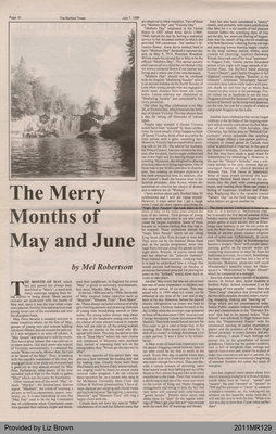 The Merry Months of May and June by Mel Robertson, from The Burford Times