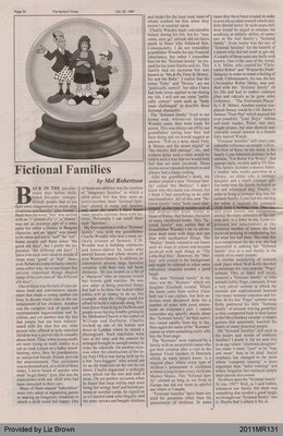 Fictional Families by Mel Robertson, from The Burford Times