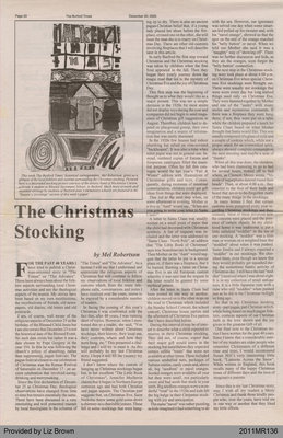 The Christmas Stocking by Mel Robertson, from The Burford Times