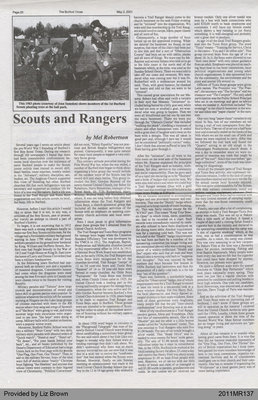Scouts and Rangers by Mel Robertson, from The Burford Times