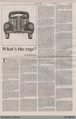 What's the Rage? by Mel Robertson, from The Burford Times