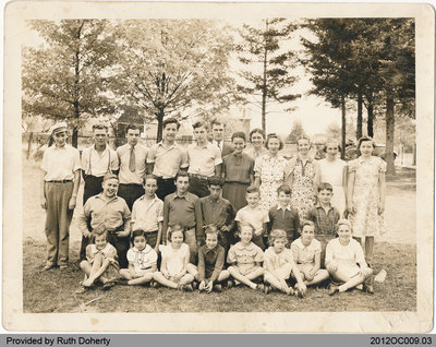Onondaga School Section No. 5 Students 1939