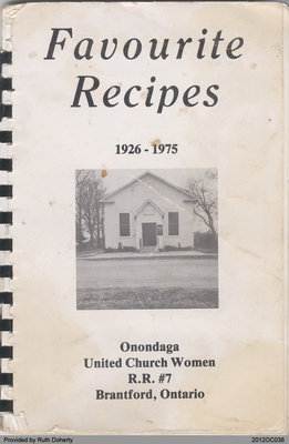 Favourite Recipes: Onondaga United Church Women 1926-1975