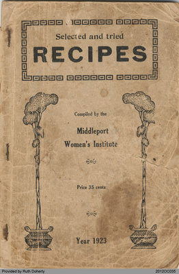 Recipe Book by Middleport Women's Institute 1923