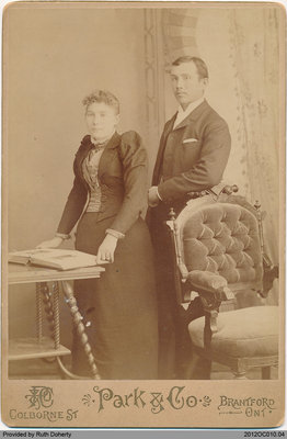 Photograph of Hannah Edwards and Henry Taws