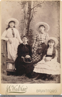 Photograph of Carrie Day, Hannah Edwards, Sizzie Davis, Nancy Dyment