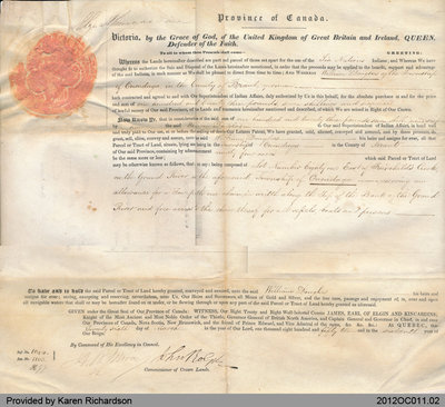 Land Grant to William Douglas of the Township of Onondaga