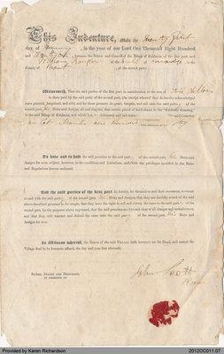 Land Sale to William Douglas