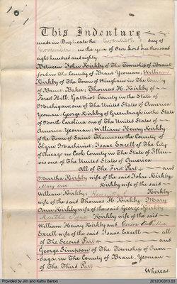 Deed Between John Kirkby et al. and George Simpson