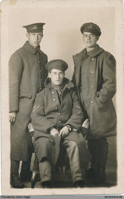 Photograph of Dave, Tom, and Will Kelly of Middleport