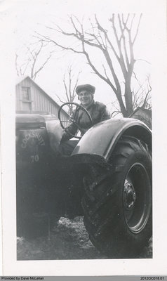 Bill Wood on His Oliver Tractor