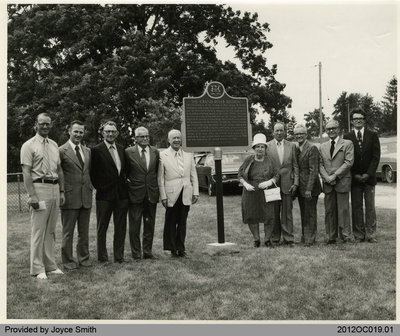 Unveiling of Historical Plaque at Salt Springs