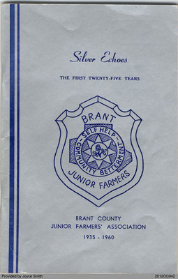 The First Twenty Five Years of the Brant County Junior Farmers' Association