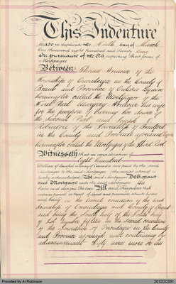 Mortgage Document Between Thomas Armour and Joseph Robinson