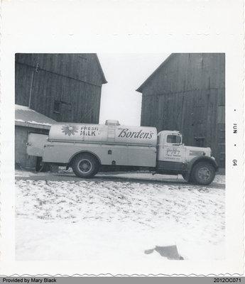 Bulk Milk Truck at Ken Black's Farm