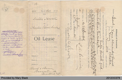 Oil Lease from Triller Howell to Charles Fairbank