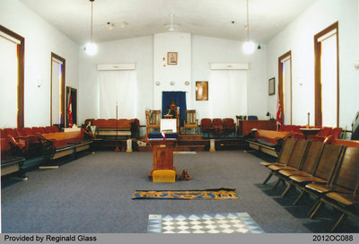 Interior View of the Onondaga Masonic Lodge