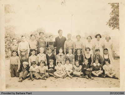 Photograph of Students of School Section No. 6 in Onondaga