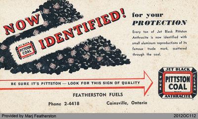 Featherston Fuel Blotter