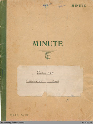 Minute Book of the Onondaga Community Club