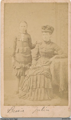Julia Hager and Her Daughter Bessie
