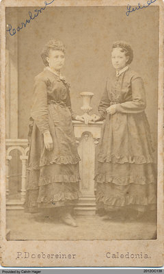 Photograph of Caroline and Julia Hager