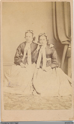 Photograph of Julia Anna and Caroline Hager