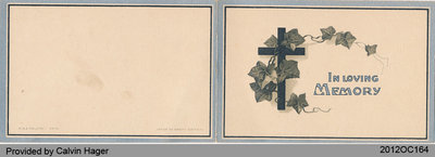 Funeral Card of Ada Hager