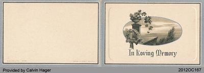 Funeral Card of Maria Kew
