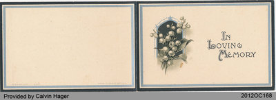 Funeral Card of Wilfred John Lawrence Hager