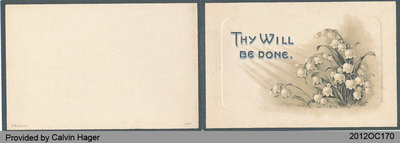 Funeral Card of John Deagle