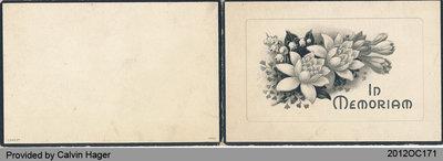 Funeral Card of James Deagle